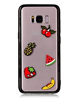 For Case Cover Transparent Back Cover Case Food 3D Cartoon Hard Acrylic for Samsung Galaxy S8 Plus S8 S7 edge S7