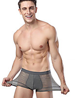 Homme Sexy Solide Boxers-Modal Nylon