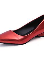 Femme Chaussures Polyuréthane Printemps Eté Confort Escarpin Basique Semelles Légères Chaussures à Talons Talon Plat Bout rond Pour
