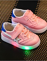Girls' Shoes Synthetic Summer Fall Light Up Shoes Comfort Sneakers Gore LED Hook & Loop For Casual Party & Evening Blushing Pink Red White