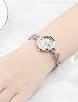 Women's Fashion Watch Quartz Water Resistant / Water Proof Alloy Band Sparkle Bangle Elegant White Blue Silver Gold Pink Purple