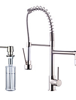 Centerset Pull out with  Ceramic Valve Nickel Brushed , Kitchen faucet