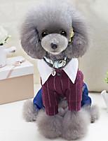 Cane Tuta Abbigliamento per cani Casual Formale Grigio Rosso