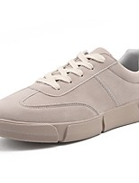 Men's Shoes PU Fall Winter Comfort Sneakers Lace-up For Casual Khaki Gray Black