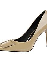 Femme Chaussures Similicuir Printemps Automne Confort Chaussures à Talons Talon Aiguille Bout pointu Pour Habillé Noir Jaune Rouge Vert