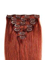 70g/100g Full Head Clip In Human Hair Extensions Real Human Hair 7 pieces SALON PROESSIONAL STYLE