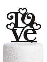 Bolo acrílico, vara, amor, decoração, bolo de casamento