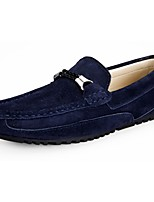 Men's Shoes Cowhide Fall Winter Comfort Loafers & Slip-Ons For Casual Khaki Blue Gray
