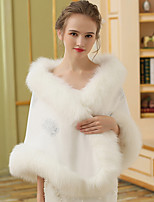 Women's Wrap Capes Faux Fur Wedding Party/ Evening Applique