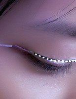 LED Light False Eyelashes, Glowing Eyes, LED Eyelash Lamp, Double Gypsum, False Eyelash Lamp (Key Control)