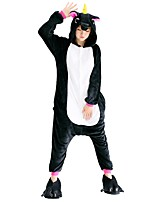 Kigurumi Pajamas Flying Horse Festival/Holiday Animal Sleepwear Halloween Fashion Embroidered Flannel Fabric Cosplay Costumes Shoes