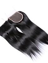 8 pollici 4 * 4 chiusura superiore del merletto della chiusura 100% della fabbrica dei capelli umani brasiliani 100% chiusura naturale