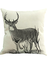 1 Pcs Northern Europe Deer Animal Pillow Cover Novelty Elk Animals Pattern Pillow Case