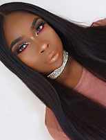 Women Black Straight Remy Hair Full Lace Wigs Wigs Brazilian Hair 180% Density