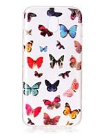 für Fallabdeckung imd transparentes Muster rückseitige Abdeckungsfall Schmetterling weiches tpu für Samsung Galaxie j7 (2016) j7 (2017) j5
