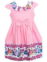 Девичий Платье День рождения На каждый день Праздник На выход Хлопок С принтом Лето С короткими рукавами