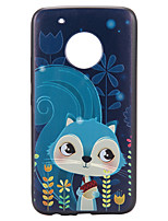 Case For Motorola Moto G5 Plus Case Cover Squirrel Pattern Relief Back Cover Soft TPU