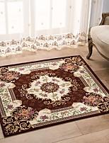 European Style Square Anti-skid Jacquard Carpet for Living Room/Dining Bedroom Mat Rug