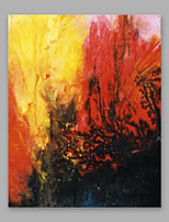 Hand-Painted Abstract Vertical,Artistic One Panel Canvas Oil Painting For Home Decoration