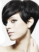 Women Synthetic Wig Capless Short Straight Black Pixie Cut Celebrity Wig Cosplay Wig Natural Wigs Costume Wig