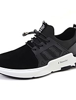 Men's Shoes PU Pigskin Spring Fall Comfort Athletic Shoes Running Shoes Gore For Athletic Casual Dark Blue Black