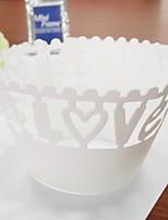 Аксессуары для вечеринок Свадьба Особые случаи 12 предметов Бумажные формы для кексов Бумага Плотная бумага Праздник Свадьба