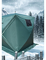 3-4 persons Tent Qube Tent Single Camping Tent Ice Shelter Fishing Tent Windproof Waterproof Zipper 1000-1500 mm for 180*180*205 CM PVC Coating