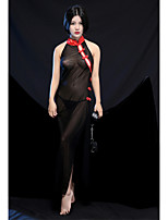 Robe de chambre Ultra Sexy Vêtement de nuit Femme,Sexy Broderie Soie Glacée