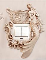 Pessoas Adesivos de Parede Autocolantes 3D para Parede Autocolantes de Parede Decorativos Material Decoração para casa Decalque