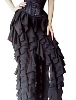 Women's Going out Casual/Daily Holiday Asymmetrical Skirts,Sexy Vintage Street chic Swing Pleated Split Solid All Seasons