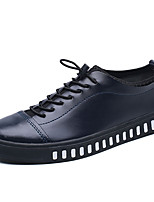 Men's Shoes PU Spring Fall Comfort Sneakers Lace-up For Casual Blue Black White
