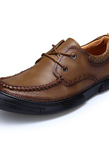 Men's Shoes Nappa Leather Fall Winter Formal Shoes Oxfords For Casual Party & Evening Brown