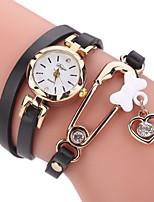 Per donna Orologio alla moda Simulato Triangolo Orologio Orologio braccialetto Cinese Quarzo imitazione diamante PU Banda Casual classe