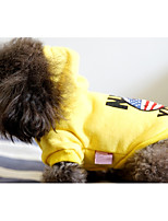 Dog Hoodie Dog Clothes Casual/Daily Cartoon Red Yellow