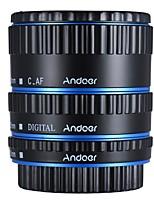 andoer coloré métal ttl auto focus af macro extension tube anneau pour canon eos ef ef-s 60d 7d 5d ii 550d bleu