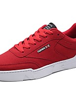 Men's Shoes Cashmere Spring Fall Comfort Sneakers Lace-up For Casual Red Gray Black