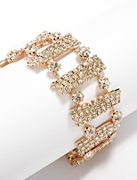 Women's Chain Bracelet Rhinestone Fashion Rhinestone Alloy Jewelry For Wedding Daily
