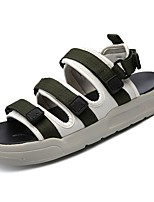 Men's Shoes PU Summer Comfort Sandals Split Joint For Casual Green Red Black