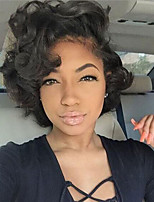 Women Synthetic Wig Capless Short Curly Black Natural Wigs Costume Wig