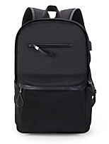 Men Bags All Seasons Canvas Backpack for Casual Outdoor Black Dark Gray
