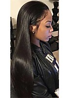 Women Synthetic Wig Lace Front Long Straight Dark Black Natural Hairline With Baby Hair Natural Wigs Costume Wig