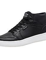 Da uomo Scarpe PU (Poliuretano) Primavera Autunno Comoda Sneakers Lacci Per Casual Bianco Nero