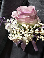 Wedding Flowers Boutonnieres Wedding Polyester 3.94