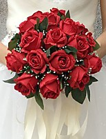 Fleurs de mariage Bouquets Cérémonie de mariage Soie Env.25cm