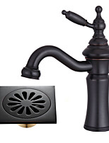 Centerset Rotating with  Ceramic Valve Single Handle One Hole for  Oil-rubbed Bronze , Bathroom Sink Faucet