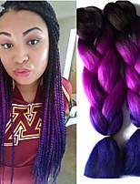 Jumbo Hair Braid Havana Crochet Ombre Braiding Hair Afro Ponytail 100% kanekalon hair 100% Kanekalon Hair Black/Purple Black/Blue