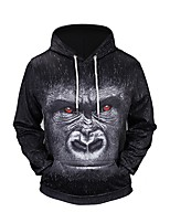 Men's Sports Going out Casual/Daily Active Street chic Punk & Gothic Hoodie 3D Print Hooded Micro-elastic Polyester Long Sleeve Fall