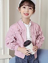 Girls' Solid Jacket & Coat,Polyester Spring Fall Long Sleeve