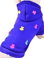 Hund Kapuzenshirts Hundekleidung Lässig/Alltäglich Geometrisch Grau Gelb Rot Blau
