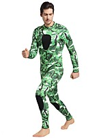 Men's Fast Dry Spandex Diving Suit Long Sleeves Diving Suits-Snorkeling Autumn/Fall Solid